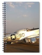 P-51 Mustang Fighter Aircraft Spiral Notebook
