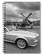 P51 Meets Eleanor In Black And White Spiral Notebook