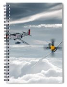 P51 Mustang - Old Crow Spiral Notebook