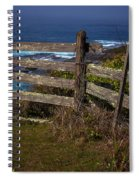 Pacific Coast Fence Spiral Notebook
