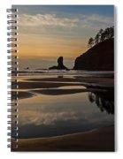 Pacific Coast Sunset Spiral Notebook