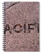 Pacific Concrete Street Sign Spiral Notebook