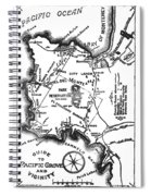 Pacific Grove And Vicinity  Monterey Peninsula California  Circa 1880 Spiral Notebook