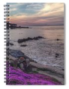 Sunset In Pacific Grove Spiral Notebook