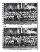 Pacific Grove California  High School  Class Of 1967 Spiral Notebook