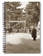 Pacific Grove Retreat Gate On Lighthouse At Grand Aves  With  O. J. Johnson Circa 1880 Spiral Notebook