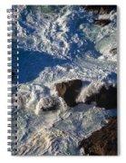 Pacific Ocean Against Rocks Spiral Notebook