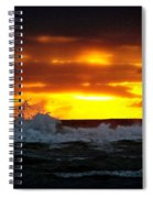 Pacific Sunset Drama Spiral Notebook
