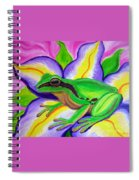 Pacific Tree Frog And Flower Spiral Notebook