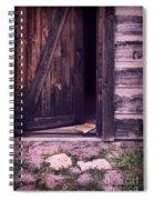 Package By Open Front Door Spiral Notebook