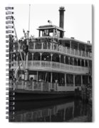 Paddle Boat Black And White Walt Disney World Spiral Notebook
