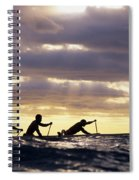 Paddlers Silhouetted Spiral Notebook
