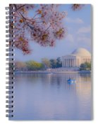 Paddling Past The Blossoms On The Basin Spiral Notebook