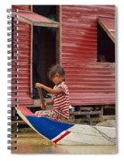Paddling Through The Village Spiral Notebook