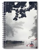 Paddling Towards The Unknown Spiral Notebook