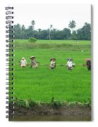 Paddy Field Workers Spiral Notebook