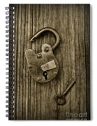Padlock Black And White Spiral Notebook