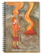 Page Of Wands Spiral Notebook