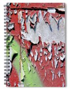Paint Abstract Spiral Notebook