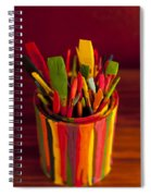 Paint Can And Paint Brushes Still Life Spiral Notebook