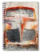 Painted 1940 Desoto Deluxe Spiral Notebook