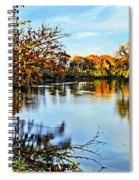 Painted Autumn River Spiral Notebook