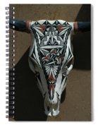 Painted Bonehead Spiral Notebook