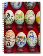Painted Eggs In China Market Spiral Notebook
