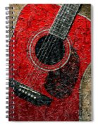 Painted Guitar - Music - Red Spiral Notebook