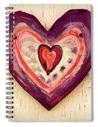 Painted Heart Spiral Notebook