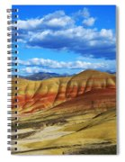 Painted Hills Blue Sky 3 Spiral Notebook