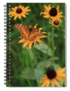Painted Lady With Friends Spiral Notebook