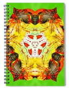 Painted Lotus Xii Spiral Notebook