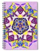 Painted Lotus Xvi Spiral Notebook