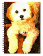 Painted Puppy Spiral Notebook