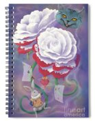 Painted Roses For Wonderland's Heartless Queen Spiral Notebook