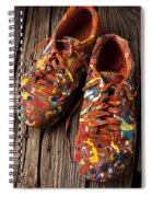 Painted Tennis Shoes Spiral Notebook