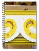 Painted Wood Pattern Spiral Notebook