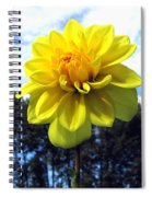 Painted Yellow Dahlia Spiral Notebook