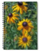 Painterly Flowers Spiral Notebook