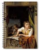 Painting And Music. Portrait Of The Artists Son Spiral Notebook