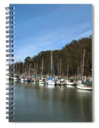 Painting Bay Side Harbor Spiral Notebook