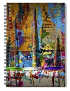 Painting Brushes At A Child's Painting Easel Spiral Notebook