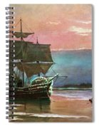 Painting Of The Ship The Mayflower 1620 Spiral Notebook