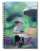 Painting The Lavender Fields Spiral Notebook