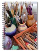 Painting Work Table Spiral Notebook