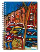 Paintings Of Montreal Hockey City Scenes Spiral Notebook
