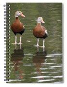 Pair Black-bellied Whistling-ducks Spiral Notebook