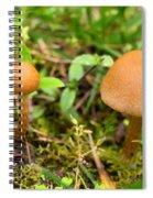 Pair O Mushrooms Spiral Notebook