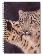Pair Of Snow Leopards Spiral Notebook
